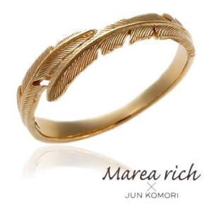 【2本ペアセット】K10ゴールド フェザーモチーフ ペアリング 【Marea rich/マレア リッチ】GD-11KJ-16/GD-11KJ-17|gradior|02