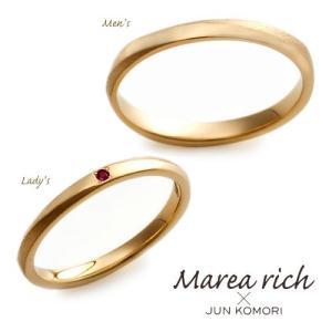 【2本ペアセット】K18ゴールド ペアリング 【Marea rich/マレア リッチ】GD-11KJ-24/GD-11KJ-25|gradior