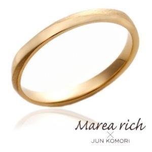 K18ゴールド ペアリング(男性用) /甲丸/13号〜23号 【Marea rich/マレア リッチ】GD-11KJ-25|gradior