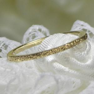 K10ゴールド シンプルピンキーリング|小指の指輪|ファランジリング|関節リング|ミディリング|Marea rich マレア リッチ|GD-11KJ-35-38|gradior