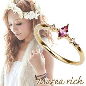 K10ゴールド ピンクトルマリン ピンキーリング|小指の指輪|ファランジリング|関節リング|ミディリング|Marea rich マレア リッチ||gradior