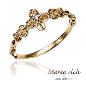 K10ゴールド×ダイヤモンド ピンキーリング|小指の指輪|ファランジリング|関節リング|ミディリング|Marea rich マレア リッチ|GD-12KJ-03|gradior
