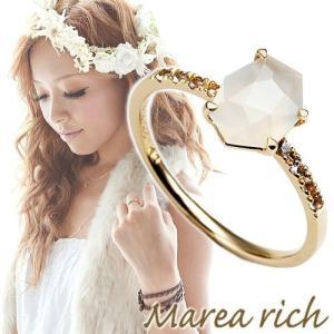10金ゴールド ムーンストーン ホワイトサファイヤ リング 指輪 レディースジュエリー 人気ブランド|クリスマスプレゼント|ホワイトデーお返し|gradior