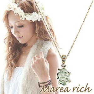 K10ゴールド×グリーンアメジスト プチネックレス【Marea rich/マレア リッチ】 gradior