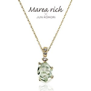 K10ゴールド×グリーンアメジスト プチネックレス【Marea rich/マレア リッチ】 gradior 02