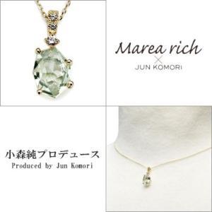 K10ゴールド×グリーンアメジスト プチネックレス【Marea rich/マレア リッチ】 gradior 03