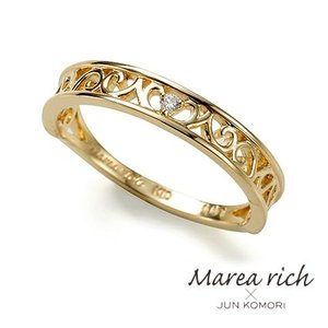 K10ゴールド×ダイヤモンド 透かし彫り クラシカル リング|8号-15号【Marea rich/マレア リッチ】  GD-13KJ-02|gradior