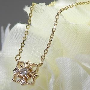 10金ゴールド ダイヤモンド フラワーモチーフ ネックレス ペンダント 人気ブランド|クリスマスプレゼント|ホワイトデーお返し|誕生日プレゼント|gradior