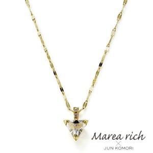 K10ゴールド×ホワイトトパーズ&ホワイトサファイヤ プチネックレス【Marea rich/マレア リッチ】GD-13KJ-10A|gradior
