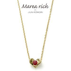 K10ゴールド×ルビー ハート プチネックレス【Marea rich/マレア リッチ】 GD-13KJ-13|gradior