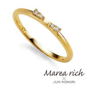 K10ゴールド ダイヤモンド リボンモチーフ リング|Marea rich マレア リッチ||gradior