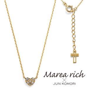 K10ゴールド×ダイヤモンド ハートパヴェ ネックレス|Marea rich マレア リッチ||gradior
