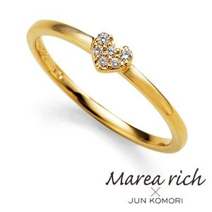 K10ゴールド ダイヤモンド ハート パヴェリング|Marea rich マレア リッチ||gradior