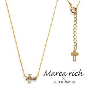 K10ゴールド ダイヤモンド クロスモチーフ 十字架パヴェ ネックレス|Marea rich マレア リッチ||gradior