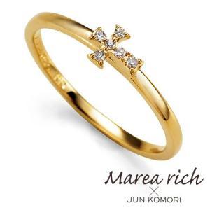 K10ゴールド ダイヤモンド クロスモチーフ リング|Marea rich マレア リッチ||gradior