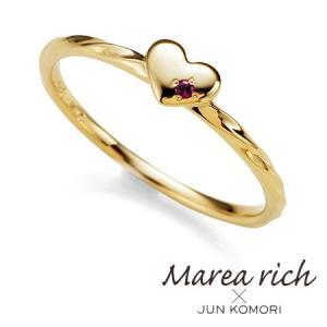 K10ゴールド×ルビー ハートモチーフ リング|5号-15号【Marea rich/マレア リッチ】|gradior