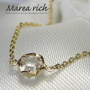 K10ゴールド ホワイトトパーズ ブレスレット|Marea rich マレア リッチ||gradior