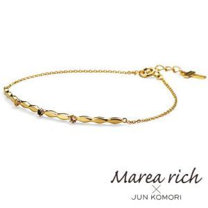 K10ゴールド ホワイトトパーズ ロンドンブルートパーズ ブレスレット|Marea rich マレア リッチ||gradior