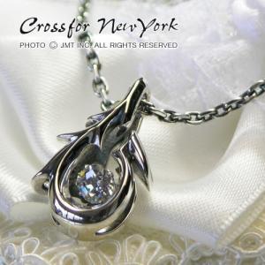 クロスフォーニューヨーク  シルバー メンズネックレス|男性用|人気ブランド Crossfor New York Dancing Stone|Tribal hook||gradior
