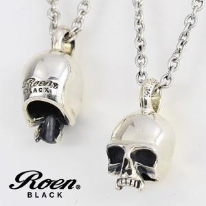 ネックレス 骸骨 スカルチャーム シルバー925 メンズ ペンダント|ブランド Roen BLACK ロエン ブラック 送料無料|gradior