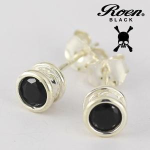 ブラックキュービック シンプル スタッドピアス|ブランド Roen BLACK|ロエン ブラック|メンズアクセサリー|送料無料|贈り物||gradior