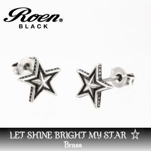 チタンポスト 星型 スタッドピアス|ブランド Roen BLACK ロエン ブラック|メンズ レディース アクセサリー|送料無料|贈り物|gradior