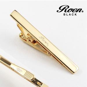シンプル タイバー ゴールドカラー|ブランド Roen BLACK|ロエン ブラック|クリスマスプレゼント|バレンタインデー|贈り物||gradior