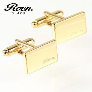 カフスボタン ゴールドカラー 2pcs/1セット|ブランド Roen BLACK|ロエン ブラック|クリスマスプレゼント|バレンタインデー|贈り物||gradior