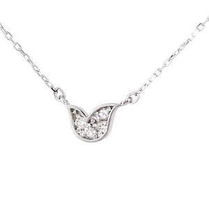 約36&40cmの2way ヒバリモチーフ  ダイヤモンド 10金ホワイトゴールド プチネックレス|ブランド Tirr Lirr ティルリル||gradior