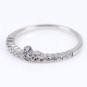ひばりモチーフがアクセントのエタニティタイプ キュービック シルバー リング 指輪|ファッションリング|ブランド Tirr Lirr ティルリル||gradior