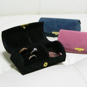 宝石箱 携帯用 持ち運びしやすいミニジュエリーボックス ハードケース|gradior