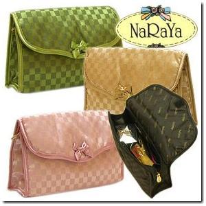 全18色 タイブランドNaRaYaナラヤ 仕切りやポケットが多く使いやすいコスメポーチSサイズ通帳入れにも |gradior