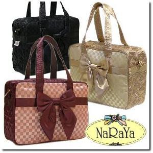 タイブランドNaRaYaナラヤ プチサイズ リボンバック チェック柄 手提げ鞄|gradior