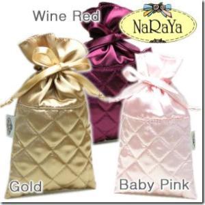全24色 タイブランドNaRaYaナラヤ 化粧品や携帯電話、デジカメ入れに小さな巾着ポーチ|gradior