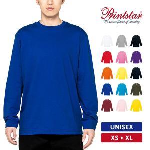 Tシャツ メンズ 長袖 ロンT 無地 おしゃれ スポーツ アメカジ 綿100% Printstar(プリントスター) 5.6オンス ヘビーウェイト長袖Tシャツ 00102-CVL|grafit