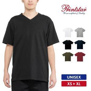 Tシャツ メンズ レディース 半袖 Vネック 厚手 無地 Printstar プリントスター 5.6オンス ヘビーウェイトVネックTシャツ|grafit