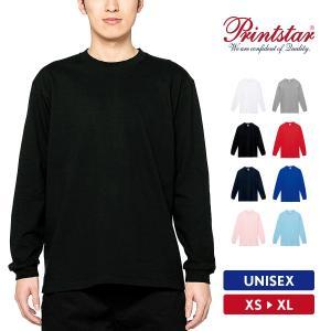 Tシャツ メンズ 長袖 ロンT 無地 おしゃれ スポーツ アメカジ 綿100% Printstar(プリントスター) 7.4オンス スーパーヘビー長袖Tシャツ 00149-HVL|grafit