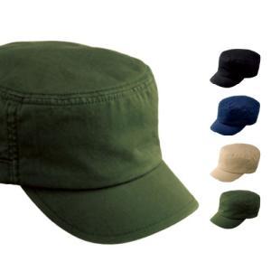 キャップ メンズ 帽子 無地 Printstar(プリントスター) アーミーワークキャップ 00730-CAW|grafit