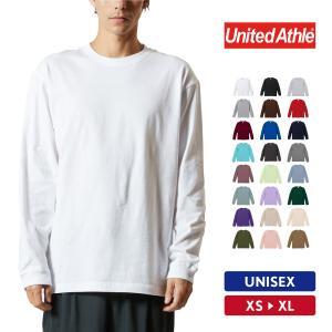 Tシャツ メンズ 長袖 無地 UnitedAthle(ユナイテッドアスレ) ロングスリーブTシャツ(1.6インチリブ) 5011-01|grafit