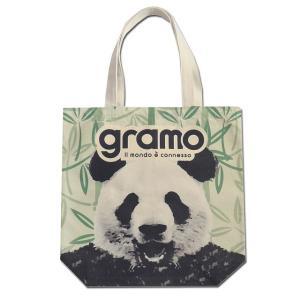 グラモ gramo『seed-roar / PANDA(Mサイズ)』エコバッグ B-041|gramo