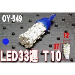 超高輝度LED33連T10ウェッジバルブ OY549 ブルー 青|granbeat