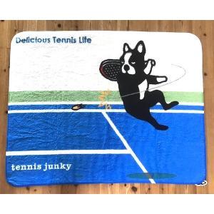 テニスジャンキー エア犬ビッグブランケット|grancha914