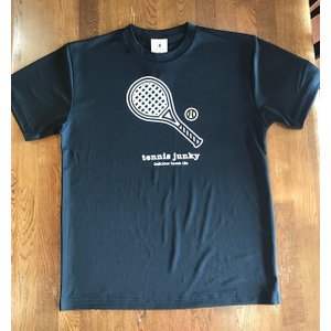 テニスジャンキー 半袖Tシャツ TJ19002  「ラケット犬+1」 ネイビー|grancha914