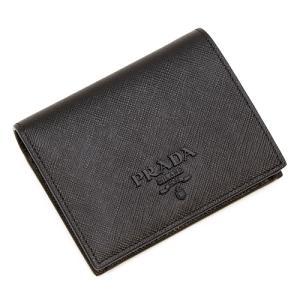 プラダ 2つ折り財布(小銭入れ付き) レディース PRADA ブラック 1MV204 2EBW F0002 SAFFIANO SHINE NERO|grande-tokyo