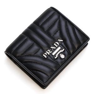 プラダ PRADA 2つ折り財布(小銭入れ付き) ブラック 1MV204 2B0X F0002 NAPPA IMPUNTURE NERO|grande-tokyo