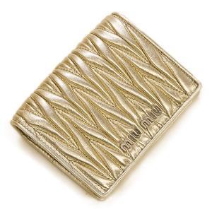 ミュウミュウ MIUMIU 2つ折り財布(小銭入れ付き) ゴールド 5MV204 N88 F0PLI MATELASSE PIRITE|grande-tokyo