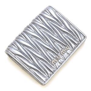 ミュウミュウ MIUMIU 2つ折り財布(小銭入れ付き) シルバー 5MV204 N88 F0135 MATELASSE CROMO|grande-tokyo