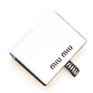 ミュウミュウ MIUMIU 2つ折り財布(小銭入れ付き) ホワイト 5MV204 2B64 F0009 MADRAS SPORT BIANCO|grande-tokyo