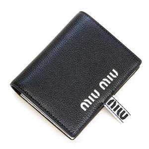 ミュウミュウ MIUMIU 2つ折り財布(小銭入れ付き) ブラック 5MV204 2B64 F0002 MADRAS SPORT NERO|grande-tokyo