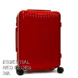 RIMOWA リモワ スーツケース キャリーケース ESSENTIAL エッセンシャル Cabin Red Gloss レッドグロス 83253654|grande-tokyo